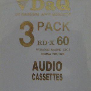 DAQ RDX-60 3 PACK AUDIO CASSETTE