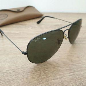 Vintage B&L Ray-Ban USA Black Aviator Sunglasses 62-14 mm Ανδρικα Γυαλια Ηλιου RAYBAN RAY BAN