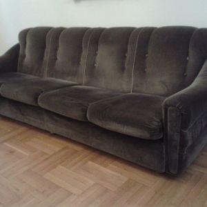Σαλόνι καναπές τετραθέσιος  με 2 πολυθρόνες