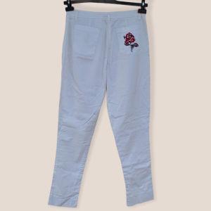 Παντελόνι βαμβακερό λευκό επώνυμο