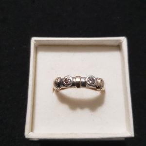 δαχτυλίδι ασημόχρυσο 2