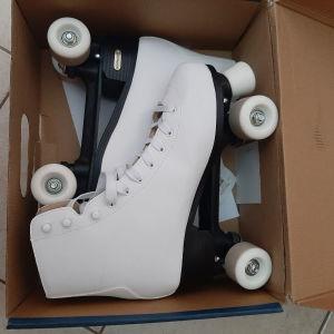 Rollers quads λευκά + προστατευτικα