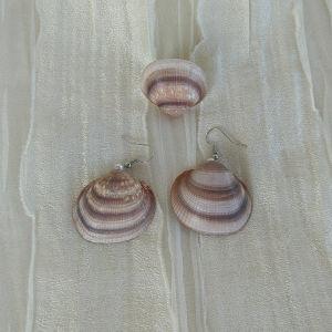 Σετ σκουλαρίκια και δαχτυλίδι χειροποίητα