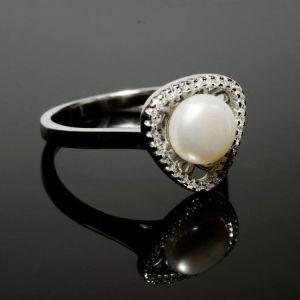 Ασημένιο δαχτυλίδι (925) με μαργαριτάρι