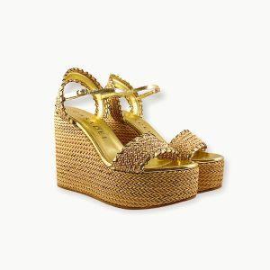 Casadei – Sandals Leather in Gold