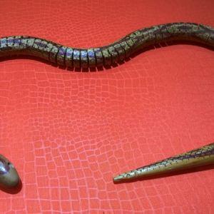 φίδι ξύλινο χειροποίητο