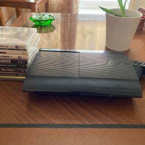 Playstation 3 SuperSlim 150gb με 8 παιχνίδια
