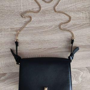 Μαύρη τσάντα Zara δερματίνη