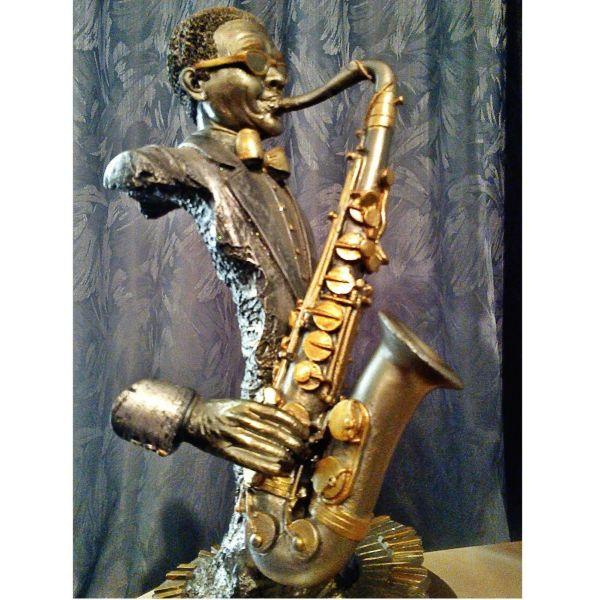 ''saxofonistas'' Vintage spanio diakosmitiko agalmatidio