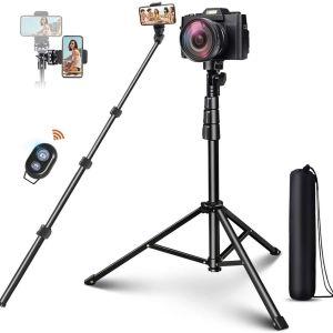 "Selfie Stick Tripod, ELEGIANT 51 ""Επεκτάσιμη βάση τρίποδου κινητού τηλεφώνου με Bluetooth Remote Συμβατό με iPhone 12 11PRO XS Max XS XR X 8P Android, DSLR, Gopro,"