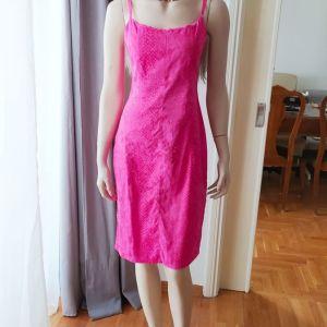 Εντυπωσιακό ροζ φόρεμα stretch