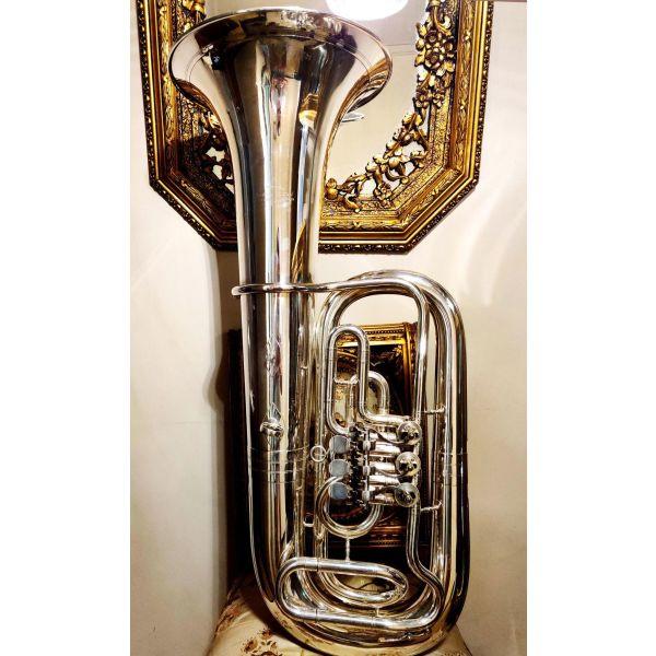 sillektiki toumpa mpasso dek. 1990 - 2000;, me kilindrous, germaniki eponimias Miraphone Tuba eb, mousiko chalkino pnefsto organo, diakosmisi retro antika spanio filarmoniki trompeta tromponi ntekor