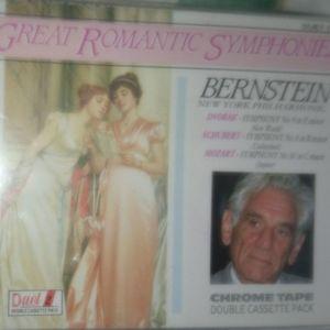 Bernstein, New York Philharmonic/ Dvořák, Schubert, Mozart – Great Romantic Symphonies-ΔΙΠΛΗ ΚΑΣΣΕΤΑ ΣΦΡΑΓΙΣΜΕΝΗ