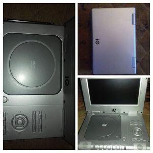 """φορητό DVD player IQ DVD-395TV με οθόνη 9"""" [για ανταλλακτικά]"""