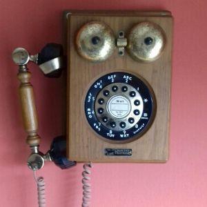 τηλεφωνο vintage ξυλινο