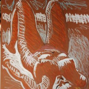 ΑΚΡΥΛΙΚΟ. ΓΥΜΝΟ ΜΟΝΤΕΛΟ . Ζωγραφος  ΑΝΤΩΝΗΣ ΣΤΕΦΑΝΑΚΟΣ