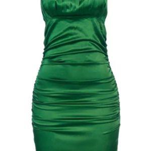 Σατέν μίνι  φόρεμα