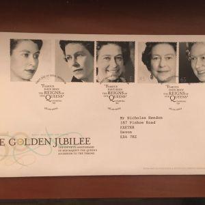 ΑΓΓΛΙΑ 2002 THE GOLDEN JUBILEE FDC