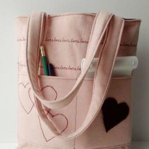 Τσάντα γυναικεία ώμου,tote, χειροποίητη.