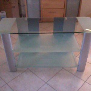 Τραπέζι τηλεόρασης από γυαλί, 3 επιπέδων, πολύ όμορφο