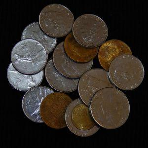 LOT με 15 Ιταλικά νομίσματα