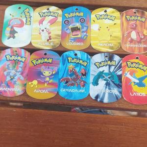 Pokemon metal tags