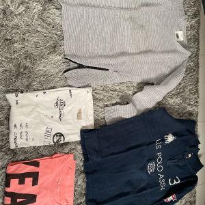 4 μπλουζάκια 2 Zara 1 H&M 1 us. polo assn ηλικία 8 ετών