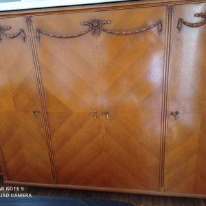 Κρεβατοκάμαρα πλήρης μασίφ ξύλο σκαλίσματα vintage 1970