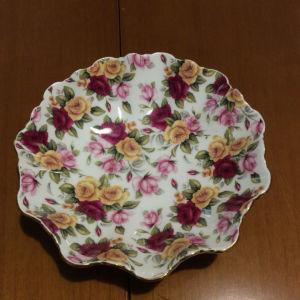 διακοσμητικό μπολ με σχέδιο λουλούδια