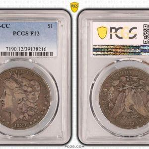 Συλλεκτικό πιστοποιημένο 1889-CC Morgan Silver Dollar $1 - Certified PCGS F12