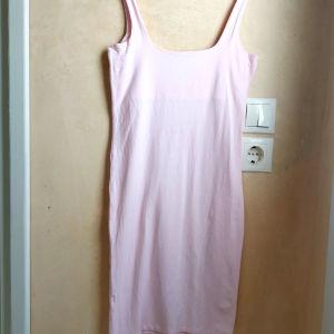 Γυναικείο Ροζ Κοντό Εφαρμοστό Φόρεμα
