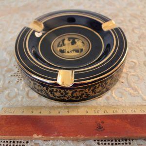 Πορσελάνινο χειροποίητο τασάκι επιχρυσωμένο 24Κ (κωδ. 5051)