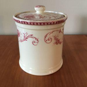 Αυθεντική vintage πορσελάνινη ζαχαριέρα με καπάκι