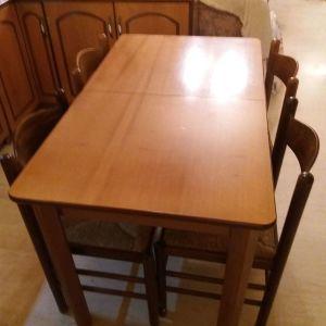 Τραπέζι κουζίνας και 4 καρέκλες
