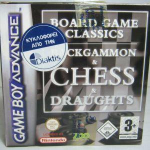 NINTENDO GAME BOY ADVANCE BACKAMMON & CHESS & DRAUGHTS BRAND NEW