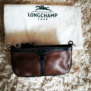 Αυθεντική δερμάτινη τσάντα, Longchamp.