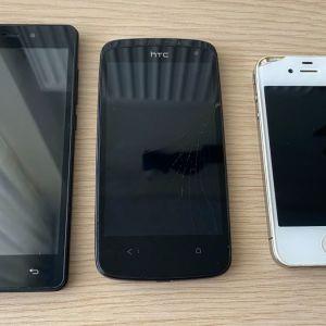 3 Smartphones για ανταλλακτικά στα 15€