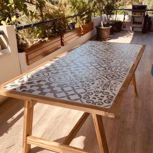 Τραπέζι SOHO industrial από ακακία σε φυσικό χρώμα  Μ205xΠ105xΥ75cm  / Κήπου / εξωτερικού χώρου / Βεράντας / 6- 8 ατόμων