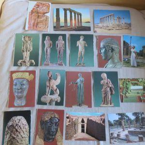 419 καρτ ποσταλ + 15 αναδιπλουμενες Ελληνικες και ξενες
