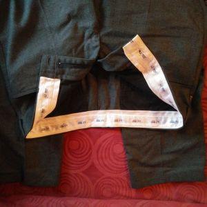 Armani παντελόνι, γνήσιο, made in Italy, γκρι, μέγεθος 52 (ΙΤΑLY), 36(USA).