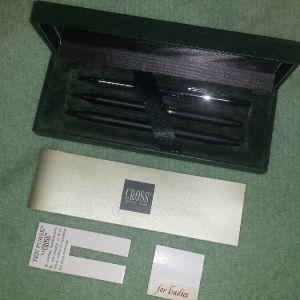 CROSS πολυτελές σετ 2 στυλό και μηχανικό μολύβι
