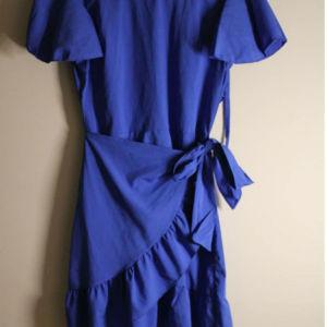 φόρεμα μπλε ρουά με ανοιχτή πλάτη καινούργιο