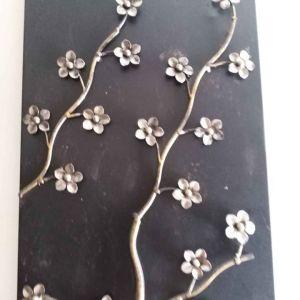Τετραπτυχος πίνακας σε σφυρηλατο μέταλλο