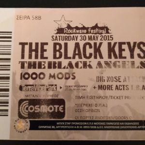 THE BLACK KEYS απόκομμα εισιτηρίου από το live στην Μαλακάσα