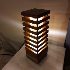 λαμπατερ καινουργιο ξυλινο επιτραπεζιο φωτιστικο