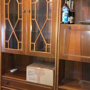Βιτρίνα σαλονιού vintage (3 τεμάχια σύνθετο) από ξυλο