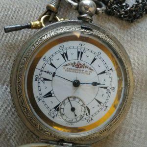 Ασημένιο 800 ρολόι τσέπης K. SERKISSOF CONSTANTINOPLE 1890-1899. Προοριζόταν για τους αξιωματικούς του Οθωμανικού στρατού. Λειτουργία μηχανική με κλειδάκι original. Με τρία καπάκια. Έγινε σέρβις.