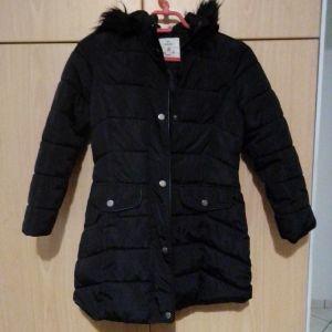 εφηβικό μπουφάν για κοριτσάκι πολύ ζεστό με κουκούλα και γούνα μακρύ