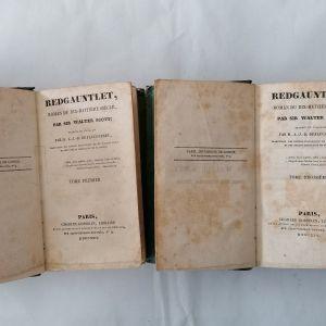 "REDGAUNTLET - 2 τόμοι - του 1826 ""Το κόκκινο γάντι"""
