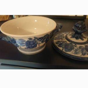 Gzhel Russian Porcelain Φοντανιέρα
